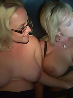 Siren and Alysha take a few loads while in the theater.