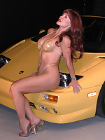 Sexy Vanessa in Lambo Love