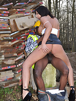 Slutty Milf Carly Cum Slut takes a local builders big hard helmet