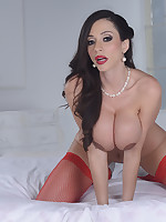 Ariella Ferrera in lingerie and stockings